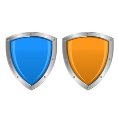 glossy shields vector image