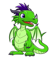 green cute dragon vector image