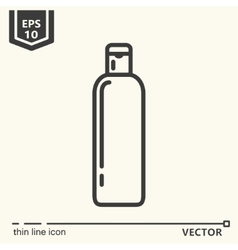 Hairdressing tools Icons series Bottle vector image