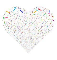 hammer fireworks heart vector image