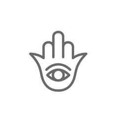 Hamsa symbol icon spiritual concept vector