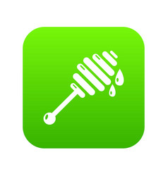 honey ladle icon green vector image
