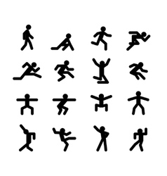 Human action poses Running walking jumping and vector