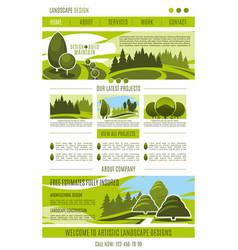 Landing page landscape design company vector