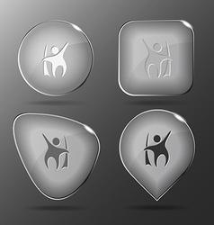 Little man Glass buttons vector