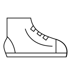 Men sport sneakers icon outline style vector image