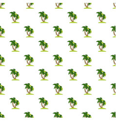 Palm tree pattern vector