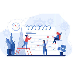 Planning concept entrepreneurship and calendar vector
