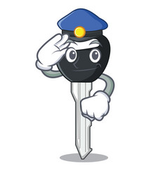 Police car keys cartoon isolatedon on shape vector