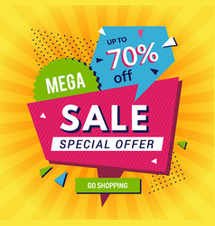 promo poster big sales discount announce shopping vector image