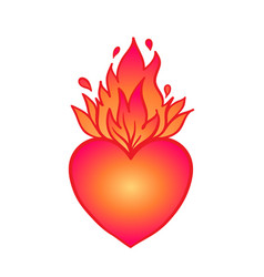 Sacred heart jesus with rays vector