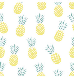 Seamless pineapple pattern in vector