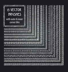 Set brushes with outer and inner corner vector