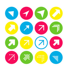 set of 16 arrows with the north-east direction vector image