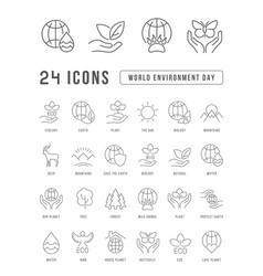 simple icons world environment day vector image