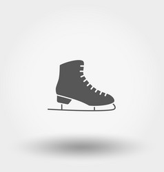 skates icon silhouette vector image