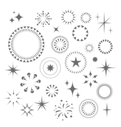 Sparkles and Starbursts set vector