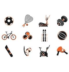 Sport equipment symbols vector