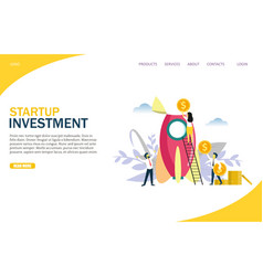 startup investment website landing page vector image
