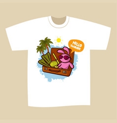 T-shirt print design summer vacation vector