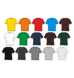 T-shirt template colorful blank vector