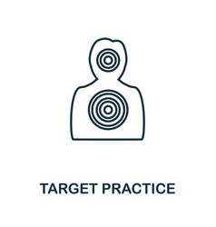 Target practice icon simple element from police vector