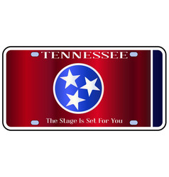 Tennessee state license plate flag vector