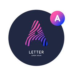 The letter a latin alphabet display vector