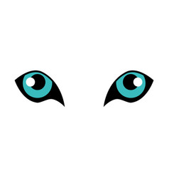 tiger eyes icon vector image
