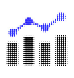 trend chart halftone dotted icon vector image