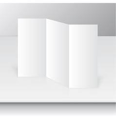 Tri fold brochure design vector image vector image