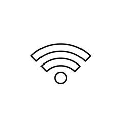 Wi-fi line icon black vector