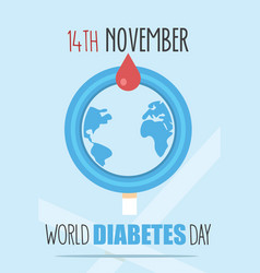 World diabetes day poster vector