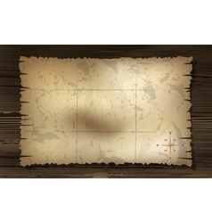 aged treasure map with compass background vector image