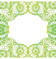 Lacy elegant frame Invitation card vector image