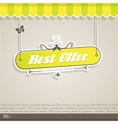 Vintage background with text vector image vector image