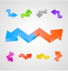 3d arrows set vector image