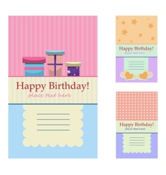 Birthday greeting cards vector image vector image