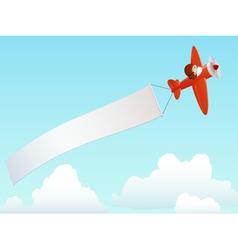 cartoon plane vector image vector image