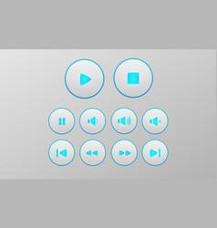 multimedia button set vector image
