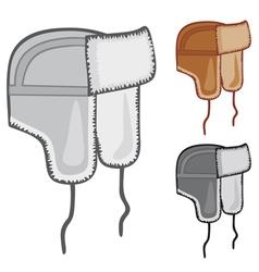russian fur hat vector image vector image