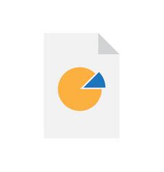 analytics data document with pie chart vector image