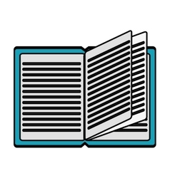 Isolated open book design vector