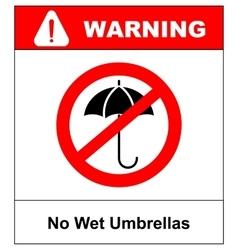 No umbrella with water drops rain protection vector