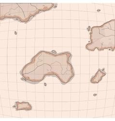 Old world map imitation vector