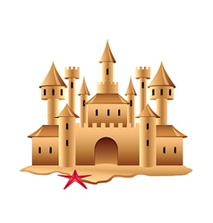 Sand castle isolated vector