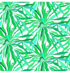 Seamless pattern with tropical palm leaves vector image