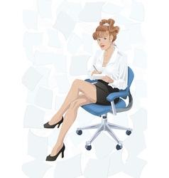 Secretary vector image vector image