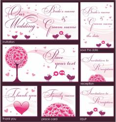 wedding reception card vector image vector image