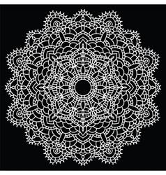 Crochet lace mandala vector image vector image